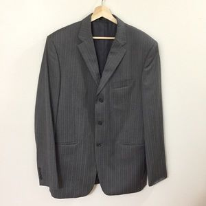 Jones New York 3 Button Pinstriped Suit Jacket